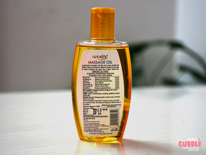 Patanjali Shishu Care Massage Oil - Used and Reviewed