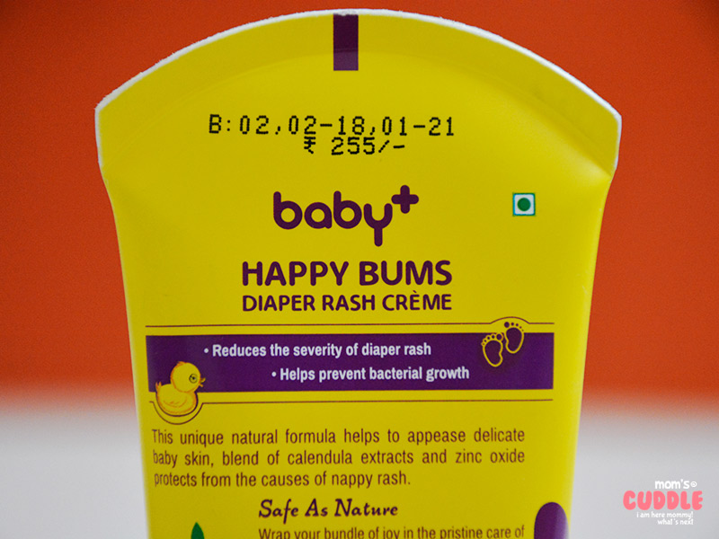 Lotus Herbals Baby+ Happy Bums Diaper Rash Crème - Used And Reviewed